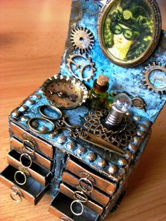 Steampunk Matchboxes Hairdresser Table