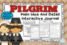 Main Idea and Details Interactive Journal Activities {1/2} Great for learning about Pilgrims and comparing children from the past with children today $2.50