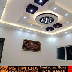 Get amazing Ceiling Design for your home, office and any building of your choice Drawing Room Ceiling Design, Plaster Ceiling Design, Gypsum Ceiling Design, Interior Ceiling Design, House Ceiling Design, Ceiling Design Living Room, Ceiling Decor, Living Room Designs, Ceiling Ideas