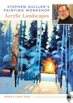 Stephen Quiller's Painting Workshop: Acrylic Landscapes DVD | Acrylic Painting Techniques on sale for $15 (through 1/31/13) at NorthLightShop.com. #DigitalSale