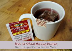 "Start the Back to School routine off with some ""me time"" and a hot cup of #AmericasTea- #shop #cbias"
