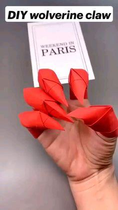 Cool Paper Crafts, Paper Crafts Origami, Diy Paper, Paper Crafting, Paper Art, Wood Crafts, Origami Simple, Instruções Origami, Origami And Kirigami