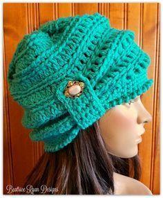 The Wintertide Beanie By Elena Hunt - Free Crochet Pattern - (ravelry)