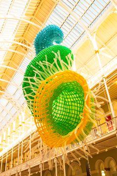 Artist Jason Hackenwerth Unveils Massive New Balloon Sculpture at Edinburgh International Science Festival