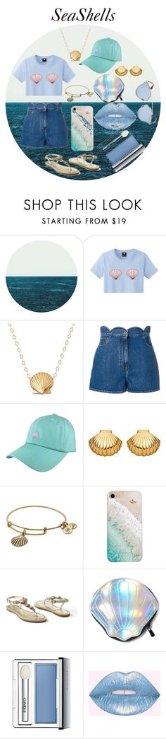 """""""SeaShells"""" by sarex ❤ liked on Polyvore featuring Valentino, Astley Clarke, Alex and Ani, Gray Malin, Venus, Circus by Sam Edelman, Clinique and Christian Dior"""