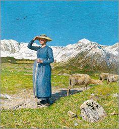 Giovanni Segantini - Mittag in den Alpen
