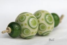 Handmade Lampwork Glass Beads Sets by BuliGlassBeads on Etsy