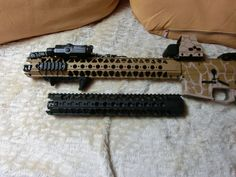 with a muzzle brake up top, and with the war sport top hat on the bottom Airsoft Gear, War, Sports, Hs Sports, Sport