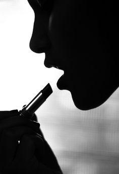 Lipstick female silhouette