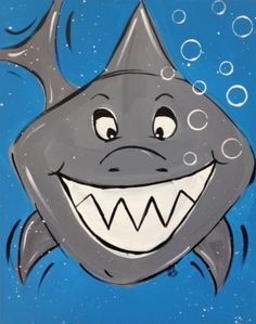 Simple shark idea - perfect for the Kinders & PWIM picture tie in