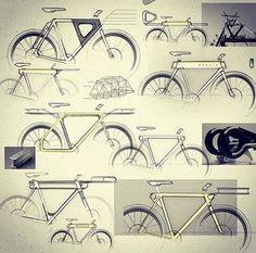 Velo Design, Bicycle Design, Design Thinking, Sketch Design, Layout Design, Design Art, Graphic Design, Bicycle Sketch, Bicycle Tattoo