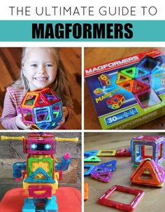 """If you don't know about these amazing """"magnetic blocks,"""" I'm sharing some fun Magformers ideas that are going to change how your kids play. Sensory Activities, Craft Activities For Kids, Preschool Activities, Preschooler Crafts, Sensory Toys, Indoor Activities, Crafts For Kids To Make, Gifts For Kids, Kids Crafts"""