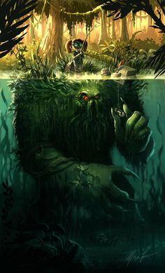 Illustration for article titled Concept Art Writing Prompt: Creepy little girl goes fishing for monsters Dark Fantasy Art, Fantasy Artwork, Fantasy Kunst, Dark Art, Fantasy Images, Art And Illustration, Illustrations, Monster Illustration, Fantasy Creatures