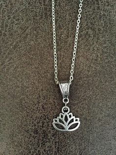 FREE SHIPPING Oxidised Silver Spiritual necklace Lotus by SAjolie
