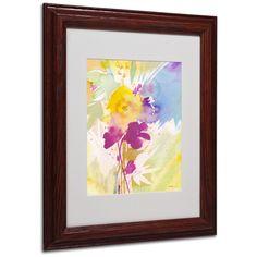 Sheila Golden 'Wildflower Bouquet 2' Matte, Wood Framed Wall Art