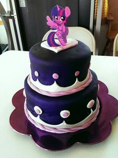Twilight sparkle birthday cake