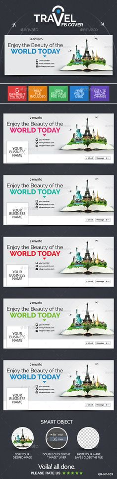 Travel & Tourism Facebook Cover Page