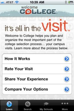 Keep track of college visits with this app!