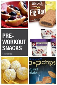 Need some pre workout fuel?  Try one of these snacks.