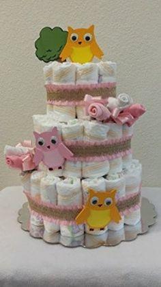 Happi Tree Inspired Diaper Cake