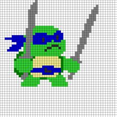 TMNT Leonardo Perler Bead Pattern