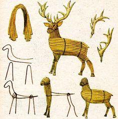 Wire Crafts, Rock Crafts, Diy Arts And Crafts, Fall Crafts, Christmas Crafts, Willow Weaving, Basket Weaving, Garden Crafts, Garden Art