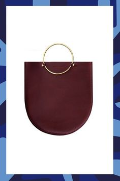 15 Simple Accessories Minimalists Will Love #refinery29  http://www.refinery29.com/minimalist-jewelry-accessories#slide-2  You've probably carried a plain black leather tote your entire life — change it up with a deep, wine-colored hue and contemporary metal ring detail for an everyday bag that's way more interesting....