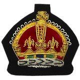 King's Crown Badge Gold Bullion on Black