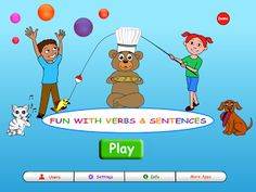 {Review} Fun with Verbs & Sentences  - pinned by @PediaStaff – Please Visit ht.ly/63sNtfor all our pediatric therapy pins