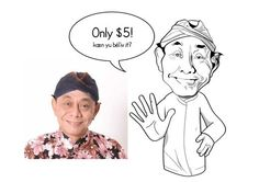 make a caricature drawing of you by konco