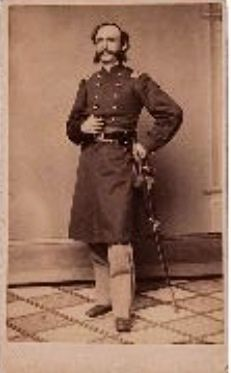 """MAJOR WILLIAM WILLIAMS, 14TH U.S. INFANTRY, New London, Conn. back mark with period ink three line identification, """"William Williams/Major 2nd Battalion/14th US Infantry."""" Williams had served in the Mexican War and enlisted in the 3rd Pennsylvania Infantry before being commissioned major in the war and raising the 14th Infantry in May 1861. He resigned in June 1863. The 14th US was part of Sykes' Regular Brigade, 5th Corps and engaged in heavy fighting during the summer of 1862"""