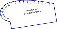 Curva Francese Template stampabile - On The Floor Taglio