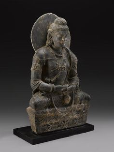"A schist figure of Maitreya Ancient region of Gandhara, 3rd/4th century 42"" USD 80,500"