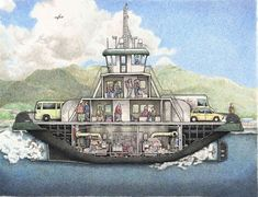 Boat Drawing, Ship Drawing, Make A Boat, Build Your Own Boat, Great Lakes Ships, Boat Illustration, Boating Holidays, Living On A Boat, Wooden Boat Building