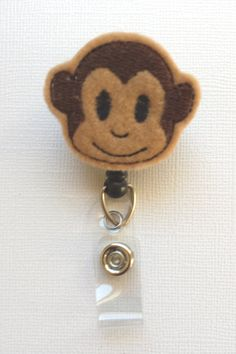 Monkey Felt Badge Reel  Retractable ID Badge by SimplyReelDesigns, $6.00