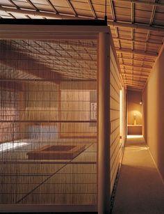 Architect Akira Watanabe; reed translucent screen as a filter