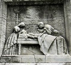 Nurses Monument in Philadelphia dedicated to nurses who died in the Virginia yellow fever epidemic of 1855