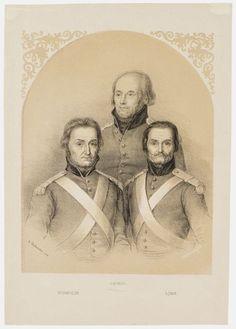 vasemmalta korpraali Karl Fredrik Wirmolin, rakuuna Isak Troman ja sotamies Antti Lönn. pysty, värillinen