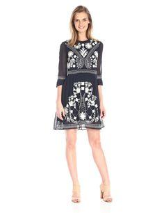 Amazon.com: French Connection Women's Kiko Stitch Dress: Clothing