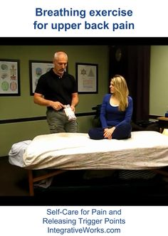 """I have many clients who come to me for problems in their upper back. Some have """"forward head posture."""" Some have that sharp stitch when they take a breath. Some have pain between the sh…"""