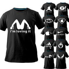Novelty T shirts new fasion men clothing 2013 summer original top desiner brand t shirts plus size cartoon logo funny tshirt diy-in T-Shirts...