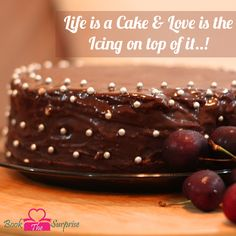 #Life is a #cake and #love is the icing on top of it.#party #bookthesurprise