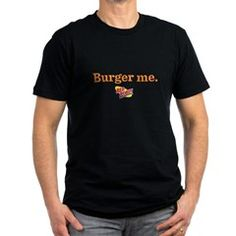 Burger Me Men's Fitted T-Shirt (dark)