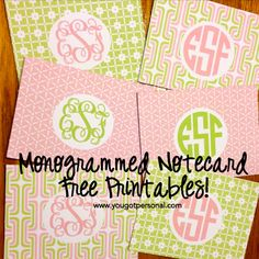 Add your own monogram to this stationery and print for FREE!