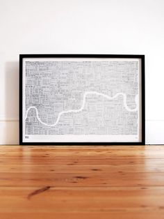 Limited Editions Foil Blocked London Type Map in Silver