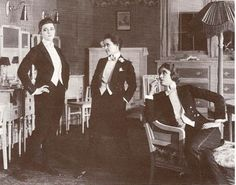 """Marguerite Clark. Elsie Lawson, and Helen G. [UPDATE: from the film  """"The Amazons"""", three sisters, all raised as boys, have trouble fitting into male-dominated society. (1917) http://tsarevich.tumblr.com/post/9978108181/smatterings-theloudestvoice-the-amazons]"""