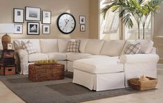 Living room with sectional, casual