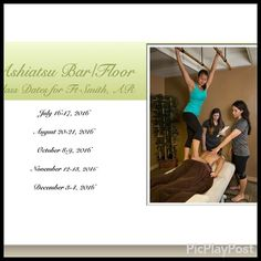 Ashiatsu class schedule for Ft Smith, Arkansas with Barefoot Master Instructor Tiffany Diaz-Linam. Pouring  out her soul through her soles to students.  #fsmta #ncbtmb #abmp #fsmta #massageceus