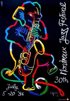 Original vintage poster INT.MUSIC FESTIVAL LUCERNE 1996