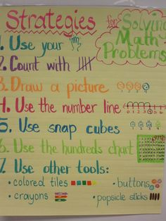 Math strategies...simplified and kid friendly
